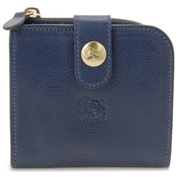 イルビゾンテ IL BISONTE 二つ折り財布 C0890 P 866 ブルー メンズ レディース