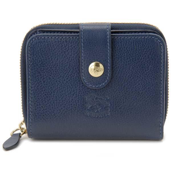 イルビゾンテ IL BISONTE 二つ折り財布 C0960 P 866 ブルー メンズ レディース