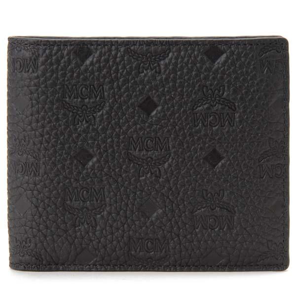 エムシーエム MCM 二つ折り財布 メンズ ブラック MXS 9ABT29 BK001