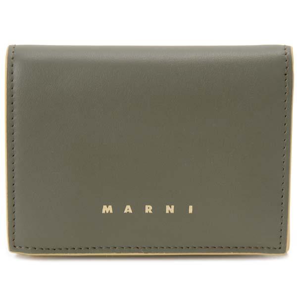 マルニ MARNI 二つ折り財布 レディース グリーン PFMO0021Y0-Z2G11 コンパクト財布