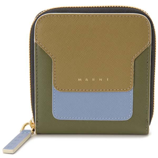 マルニ MARNI 二つ折り財布 レディース グリーン PFMOE11U15 Z274I