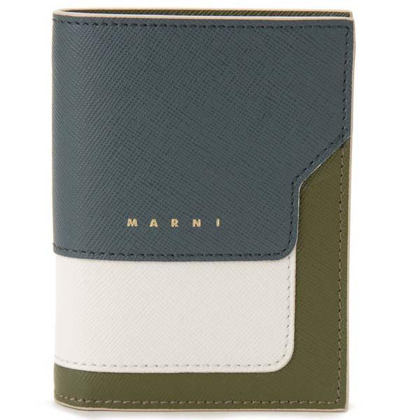 マルニ MARNI 二つ折り財布 レディース グリーン PFMOQ14U13 Z273I