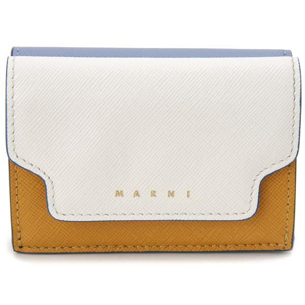 マルニ MARNI 三つ折り財布 レディース ホワイト PFMOW02U09 Z271U コンパクト財布