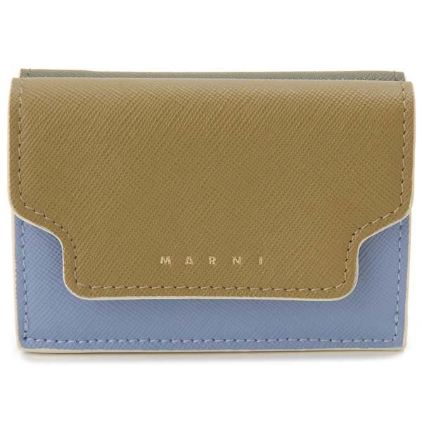 マルニ MARNI 三つ折り財布 レディース グリーン PFMOW02U09 Z274I コンパクト財布
