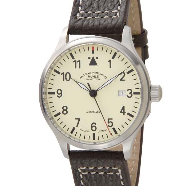 ミューレグラスヒュッテ MUHLE GLASHUTTE メンズ 腕時計 ベージュ M1-37-47-LB 自動巻き 革ベルト [ポイント5倍キャンペーン][8/3~8/17]
