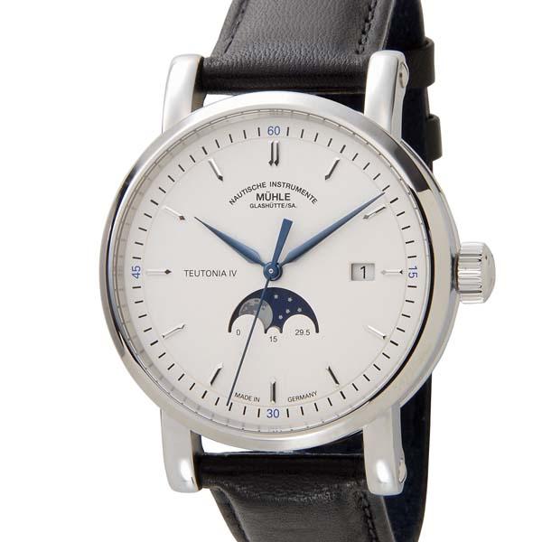 ミューレグラスヒュッテ MUHLE GLASHUTTE メンズ 腕時計 M1-44-05-LB 自動巻き ムーンフェイズ 革ベルト [ポイント5倍キャンペーン][8/3~8/17]