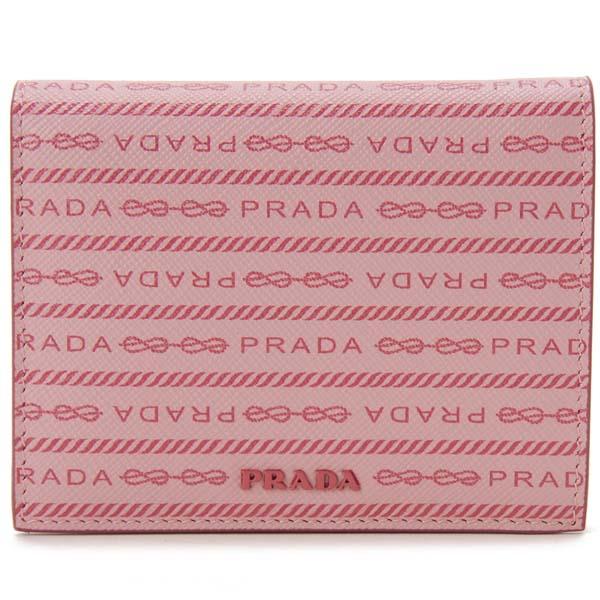 プラダ PRADA 二つ折り財布 レディース ピンク 1MV204-2DF8-F0442 PEONIA ぺオニア サフィアーノ