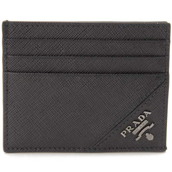プラダ PRADA カードケース ブラック 2MC223-QME-F0002 名刺入れ 定期入れ パスケース