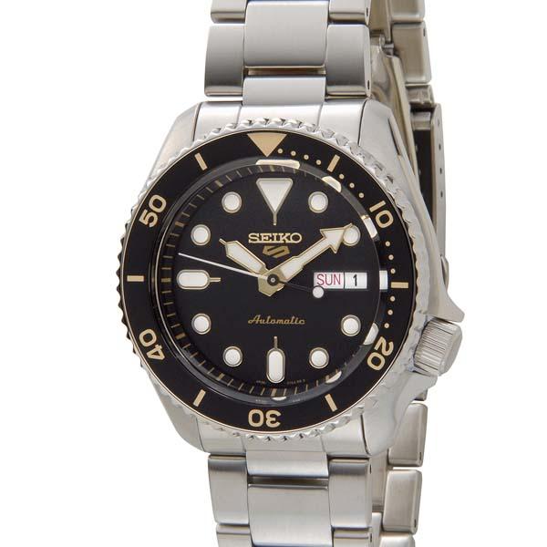 セイコー5 セイコーファイブ メンズ 腕時計 SRPD57K1 ブラック SEIKO セイコー 自動巻き 時計 ウォッチ [ポイント5倍キャンペーン][8/3~8/17]