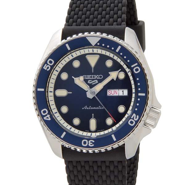 セイコー5 セイコーファイブ メンズ 腕時計 SRPD71K2 ネイビー ラバーベルト SEIKO セイコー 自動巻き 時計 ウォッチ
