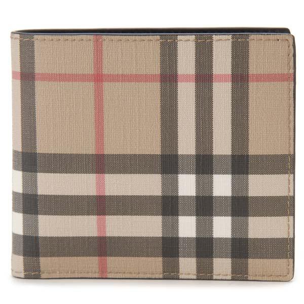 バーバリー BURBERRY 二つ折り財布 メンズ ヴィンテージチェック ベージュ B8016618 コンパクト ウォレット