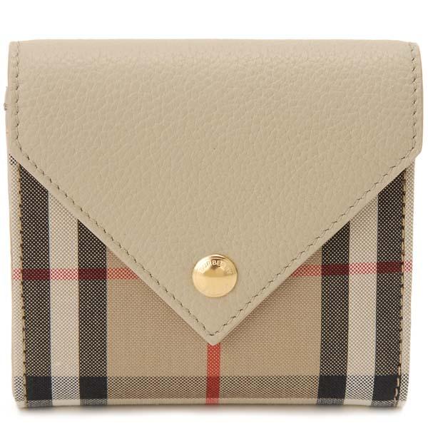 バーバリー BURBERRY 三つ折り財布 レディース ヴィンテージチェック ベージュ 8026115 コンパクト財布