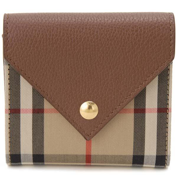 バーバリー BURBERRY 三つ折り財布 レディース ヴィンテージチェック タン ブラウン 8026116 コンパクト財布