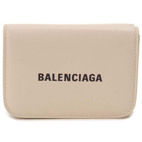 バレンシアガ BALENCIAGA 三つ折り財布 レディース ベージュ 593813 1IZF3 2760 コンパクト 財布