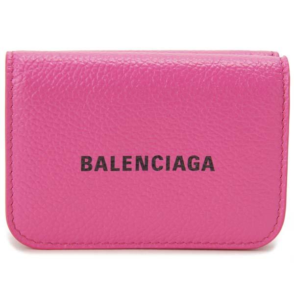 バレンシアガ BALENCIAGA 三つ折り財布 レディース ピンク 593813 1IZ43 5660 コンパクト 財布