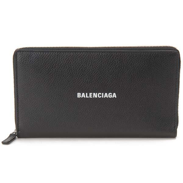バレンシアガ BALENCIAGA ラウンドファスナー 長財布 メンズ レディース ブラック 黒 594317 1IZ43 1090 財布