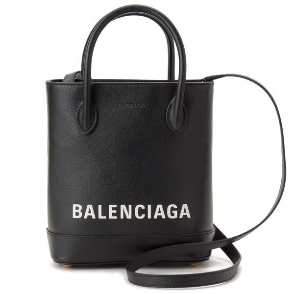 バレンシアガ BALENCIAGA トートバッグ レディース ブラック 596159 1IZ1M 1090 VILLE TOTE ヴィル 2WAY ショルダーバッグ