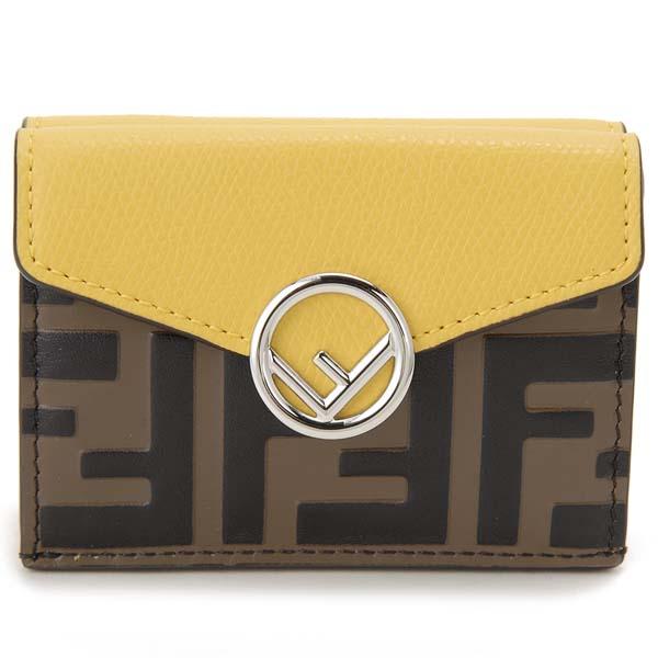 フェンディ FENDI 二つ折り財布 レディース ブラウン ズッカ柄 8M0395 AAII F19DA コンパクト財布