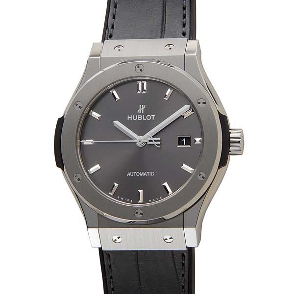ウブロ HUBLOT メンズ 腕時計 542.NX.7071.LR クラシック フュージョン チタニウム レーシング グレー ウォッチ 当店2年保証