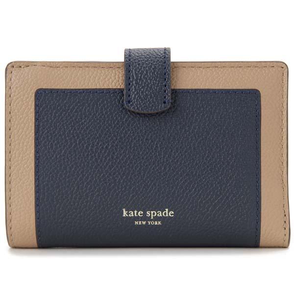 訳あり 背面部分キズあり ケイトスペード KATE SPADE 二つ折り財布 ネイビー PWRU7419 721 コンパクト財布