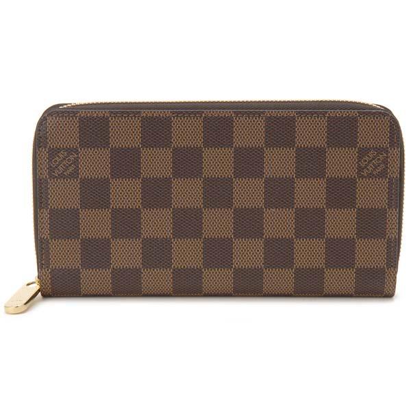 ルイヴィトン Louis Vuitton ラウンドファスナー長財布 レディース ダミエ ジッピーウォレット N60046 ブラウン ローズバレリーヌ ピンク