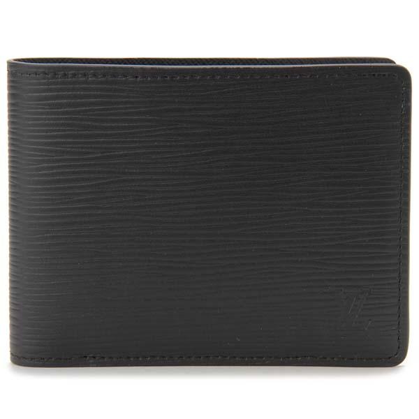 ルイヴィトン Louis Vuitton 二つ折り財布 札入れ メンズ エピ ポルトフォイユ ミュルティプル M60662 ブラック
