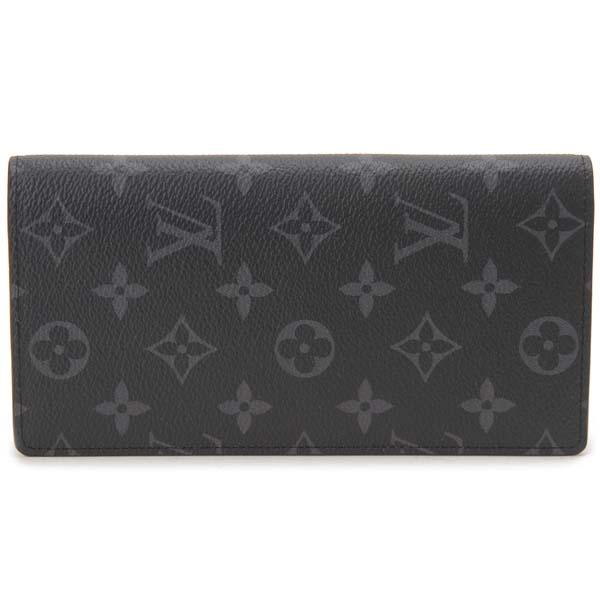 ルイヴィトン Louis Vuitton 長財布 メンズ モノグラム エクリプス ポルトフォイユ ブラザ M61697 ブラック