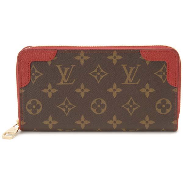 ルイヴィトン Louis Vuitton ラウンドファスナー長財布 レディース モノグラム ジッピーウォレット レティーロNM M61854 レッド