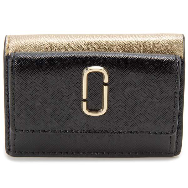 マークジェイコブス MARC JACOBS 三つ折り財布 レディース ブラック M0014492 003 スナップショット コンパクト財布