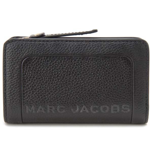 マークジェイコブス MARC JACOBS 二つ折り財布 レディース ブラック M0015105 001 コンパクト財布