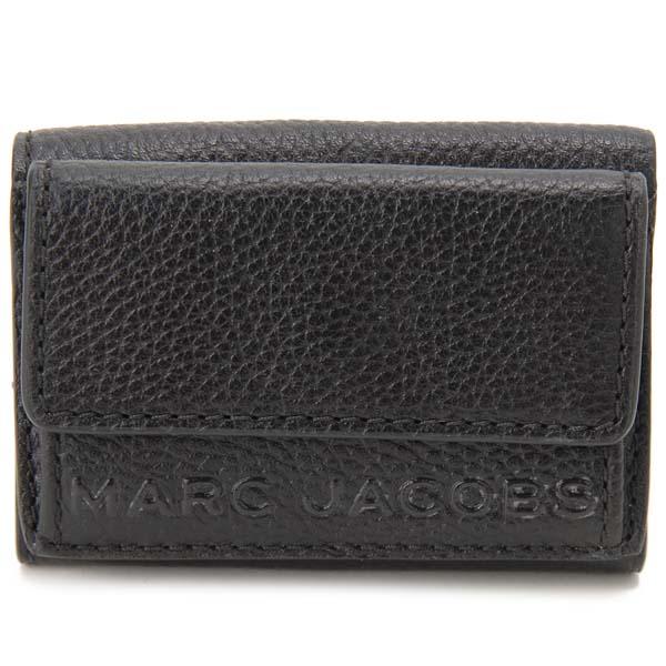 マークジェイコブス MARC JACOBS 三つ折り財布 レディース ブラック M0015111 001 スナップショット コンパクト財布