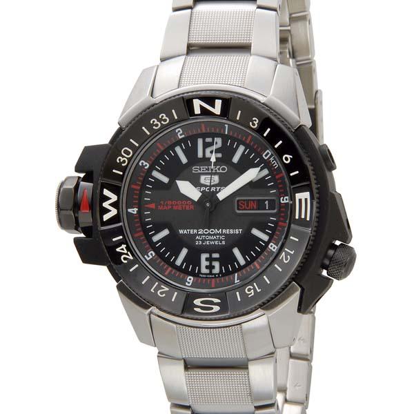 セイコー5 セイコーファイブ スポーツ メンズ 腕時計 SKZ229K1 SEIKO 5 Sports セイコー 自動巻き オートマチック ウォッチ ブラック