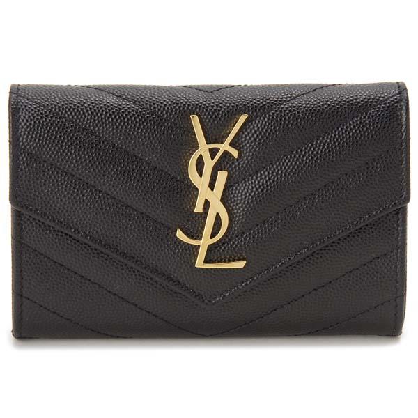 サンローランパリ SAINT LAURENT PARIS 財布 レディース ブラック 黒 414404 BOW01 1000 ミニウォレット