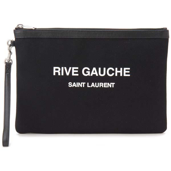 再入荷 予約販売 サンローラン パリ SAINT LAURENT PARIS クラッチバッグ レディース ブラック 1070 565722 リヴ RIVE 初売り ポーチ GAUCHE ゴーシュ 96NAE