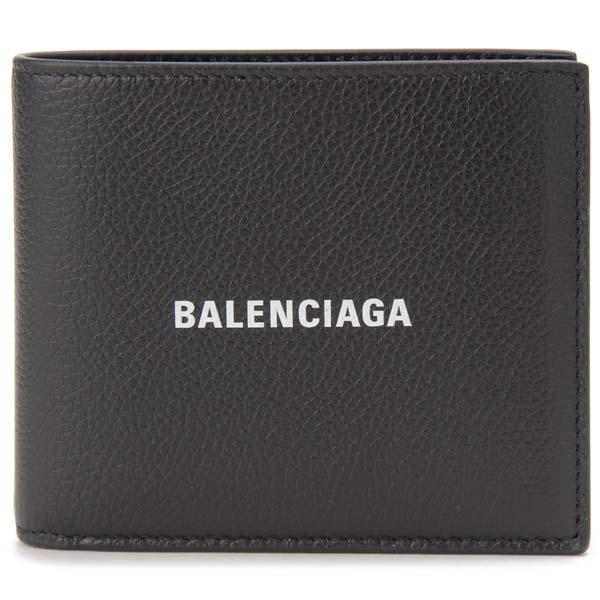 バレンシアガ BALENCIAGA 二つ折り財布 メンズ ブラック 黒 594549 1IZI3 1090 札入れ