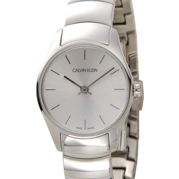カルバンクライン Calvin Klein 腕時計 CK レディース シルバー K4D23146 クラシック トゥー スイス製 [ポイント5倍キャンペーン][8/3~8/17]