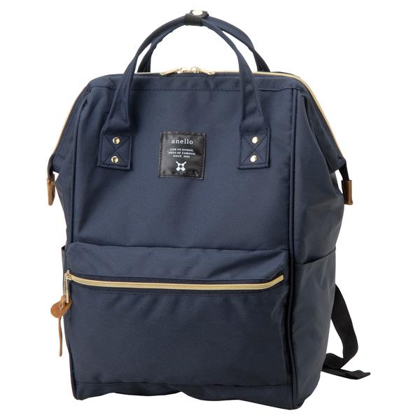アネロ anello リュック 訳あり 毎日がバーゲンセール 汚れ 線キズあり レギュラーサイズ ネイビー 口金ディパック 人気 おすすめ バッグ AT-B0193A