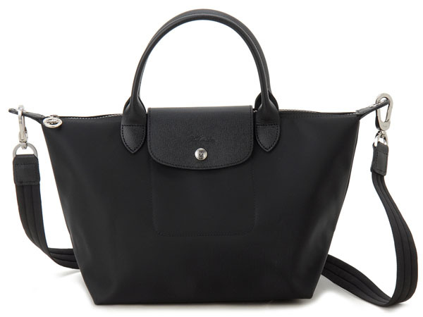 Longchamp Bags Tote Le Pliage Neo 1512 578 001 Noir Black 2way Las