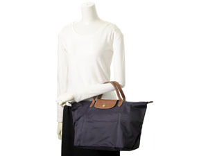 1ff87bfa5c9 ... LONGCHAMP Longchamp pliage bag M 1623 089 645 BILBERRY and blueberry  ladies Rakuten shopping Marathon