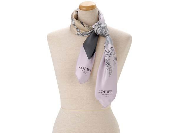 ロエベ LOEWE シルク スカーフ 918.01.603.rosa 新品