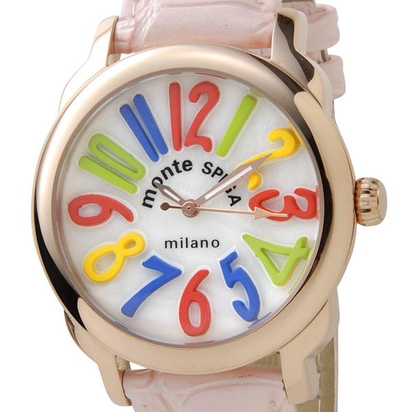 モンテスピガ 格安SALEスタート montespiga 時計 訳あり 供え 細かいキズあり 男女兼用 腕時計 MOS1150PK 新品 ピンク フランクミューラー好きにお勧め ユニセックス時計 ガガミラノ