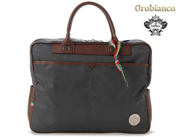 オロビアンコ Orobianco ブリーフケース TRENTAQUATTRO-D-G グレー×ブラウン ビジネスバッグ