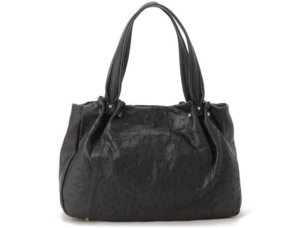 鸵鸟手提包黑色 OJN1771BK 女士包 Rhodania 罗电钟表品牌