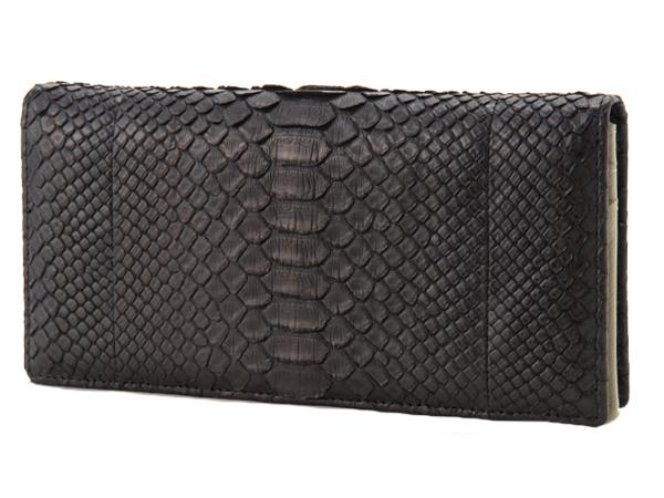 ロダニア RODANIA パイソン 長財布 SNJN0118BBK 高級皮革 新品