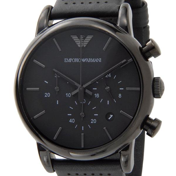 エンポリオ アルマーニ EMPORIO ARMANI 腕時計 AR1737 CLASSIC クラシック クロノグラフ ブラック メンズ 時計 新品