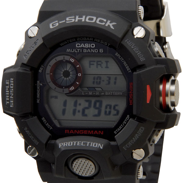 カシオ CASIO G-SHOCK Gショック GW-9400-1DR RANGEMAN レンジマン 電波ソーラーデジタル海外モデル ブラック メンズ 時計 新品