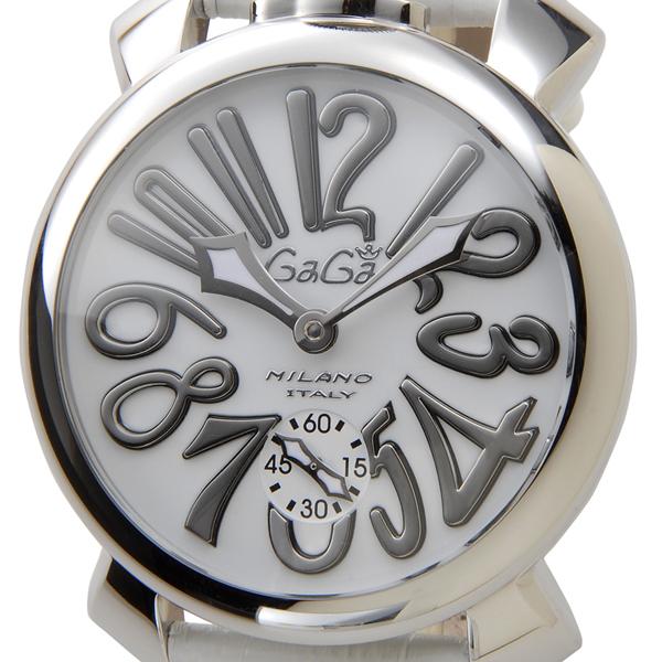 ガガミラノ Gaga Milano 5010.10S マヌアーレ 48mm ホワイト メンズ 時計