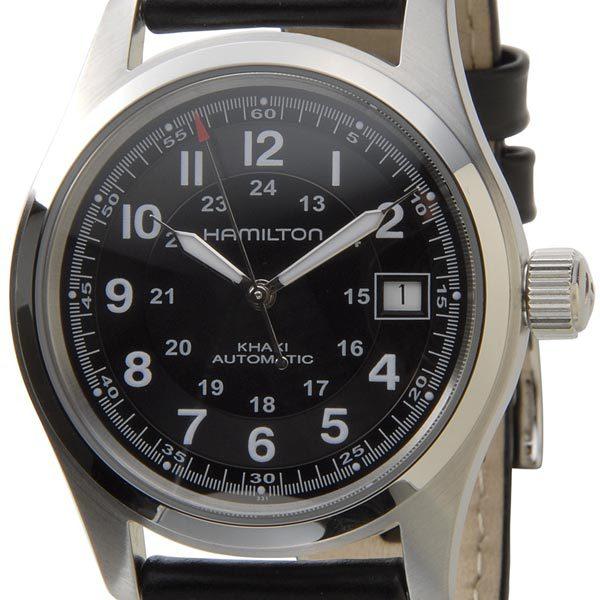 ハミルトン HAMILTON 腕時計 Khaki Field Auto カーキ フィールド オートマチック 自動巻き H70455553 ブラックベルト メンズ ウォッチ P10SP