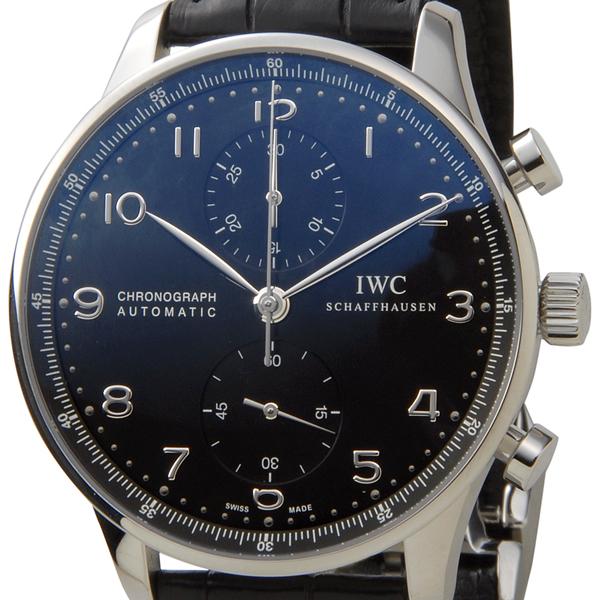 IWC 時計 ポルトギーゼ オートマティック クロノグラフ IW371447 ブラック メンズ ウォッチ インターナショナルウォッチ 新品