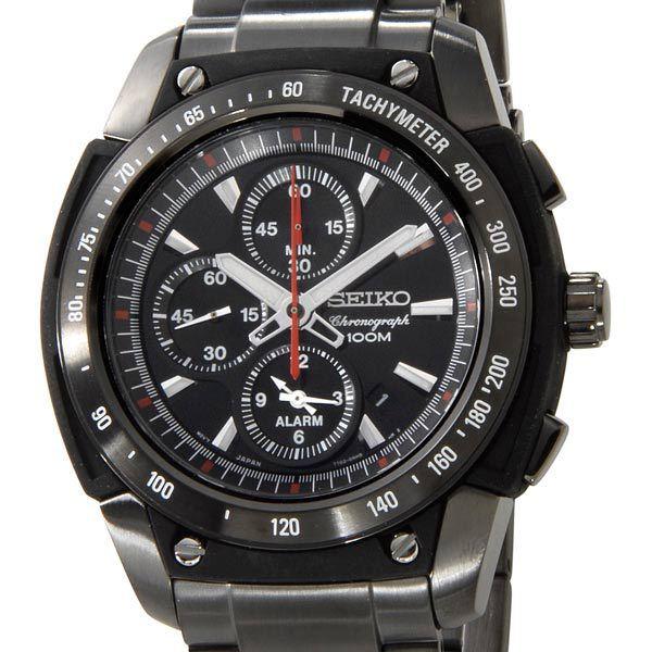 セイコー SEIKO メンズ 腕時計 SNAD49P1 クロノグラフ アラーム ブラック×ブラック セイコーウオッチ 新品 【送料無料】